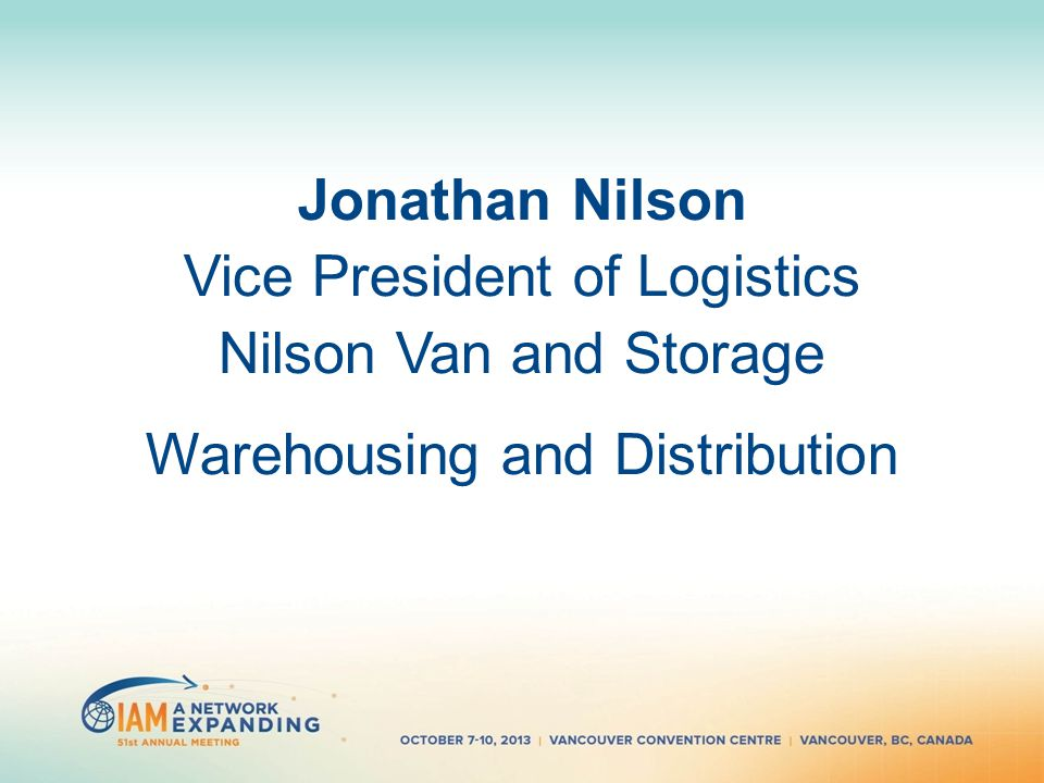 12 Jonathan Nilson Vice President Of Logistics Van And Storage Warehousing Distribution