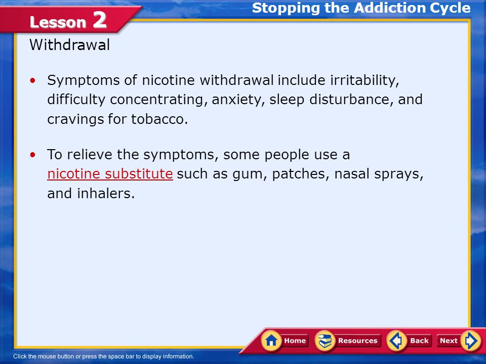 a substitute for tobacco addiction