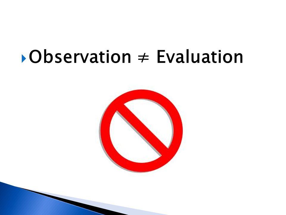  Observation ≠ Evaluation