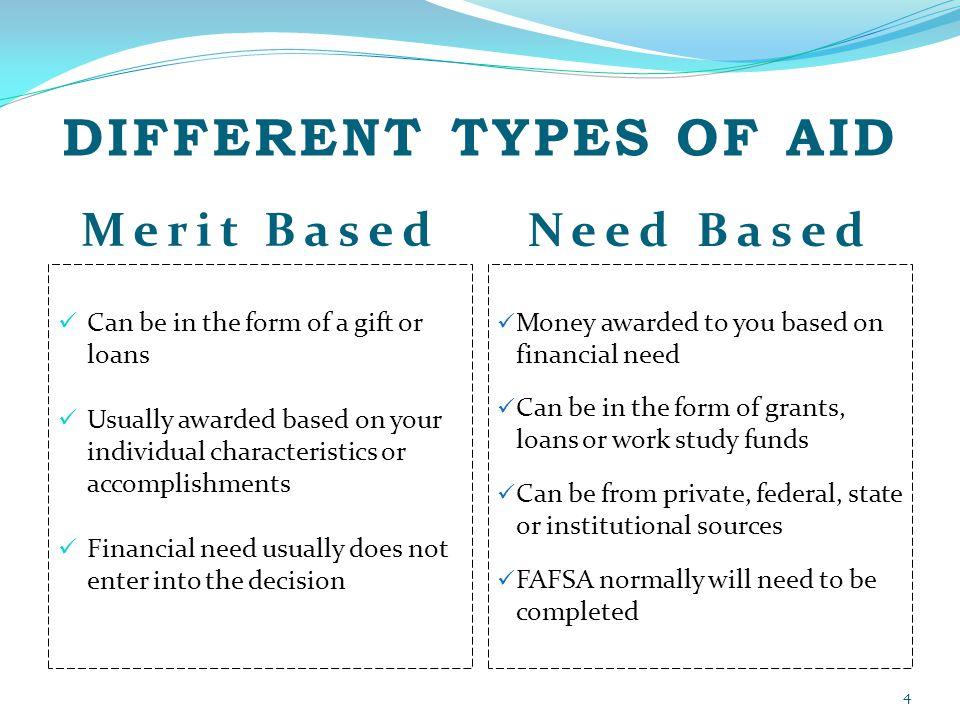 financial aid need or merit essay