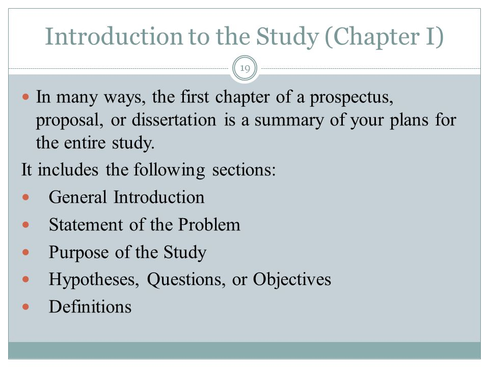 introduction of dissertation proposal