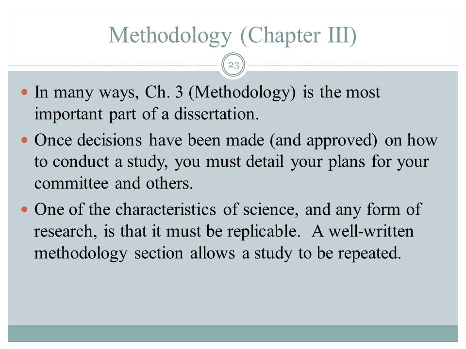 Best Dissertation Writing Methodology Chapter