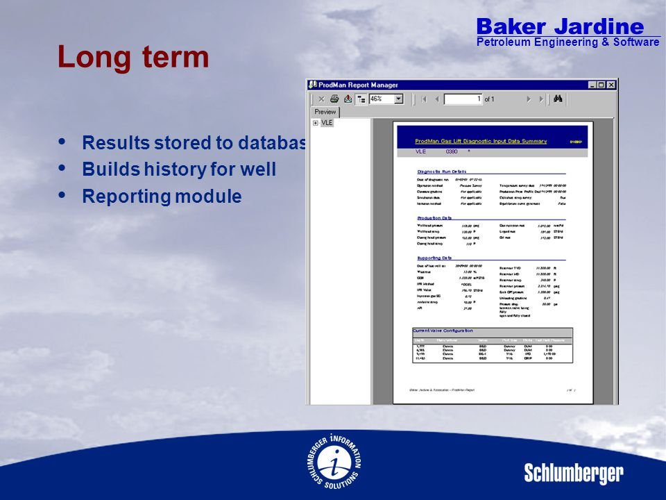 Baker Jardine Petroleum Engineering & Software Gas Lift Diagnostic Calculations