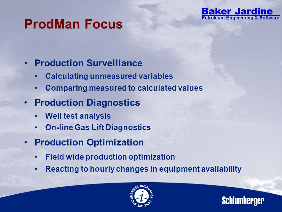 Baker Jardine Petroleum Engineering & Software ProdMan Gas Lift Diagnostic One Part of ProdMan
