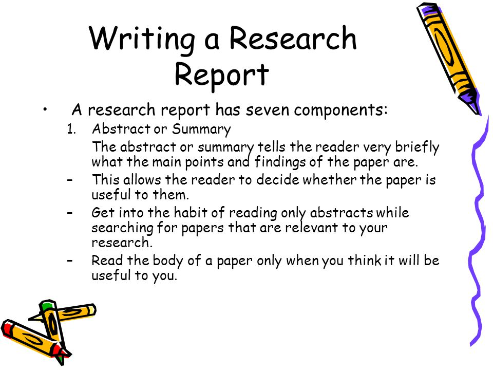 write abstract research papers