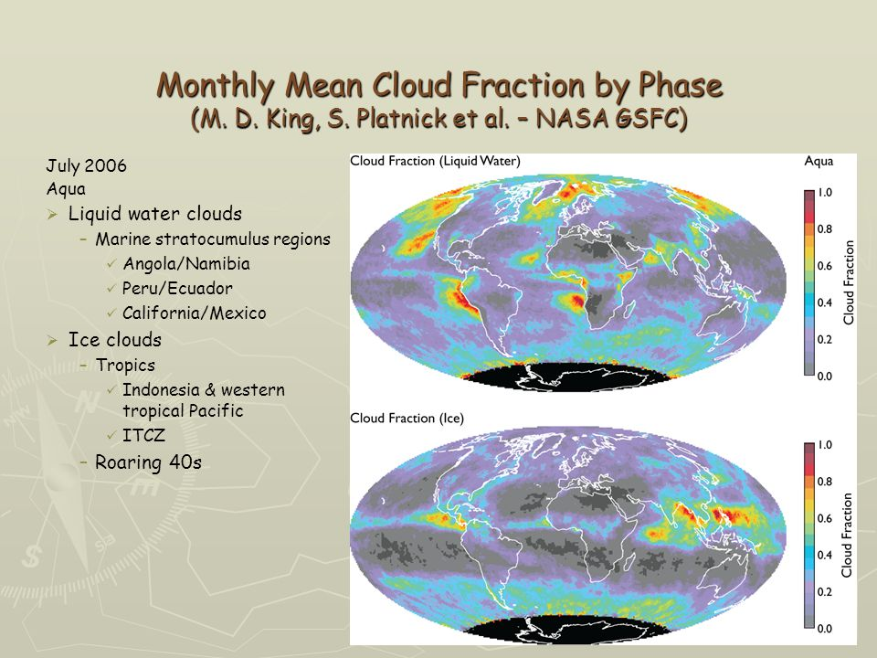 Monthly Mean Cloud Fraction by Phase (M. D. King, S.