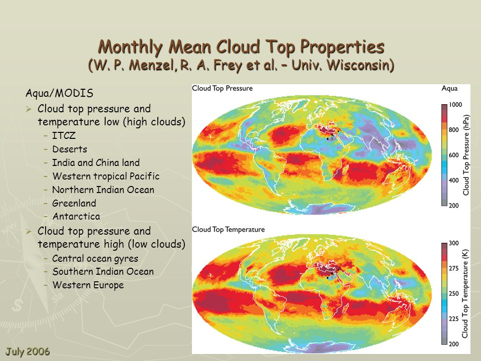 Monthly Mean Cloud Top Properties (W. P. Menzel, R.