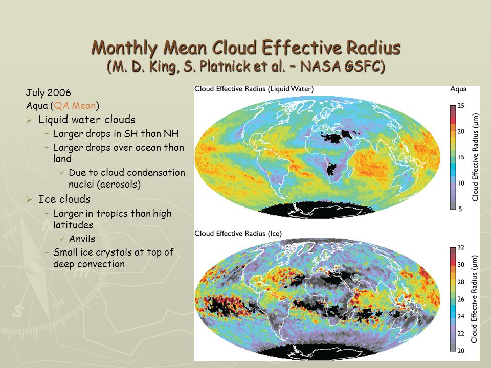 Monthly Mean Cloud Effective Radius (M. D. King, S.