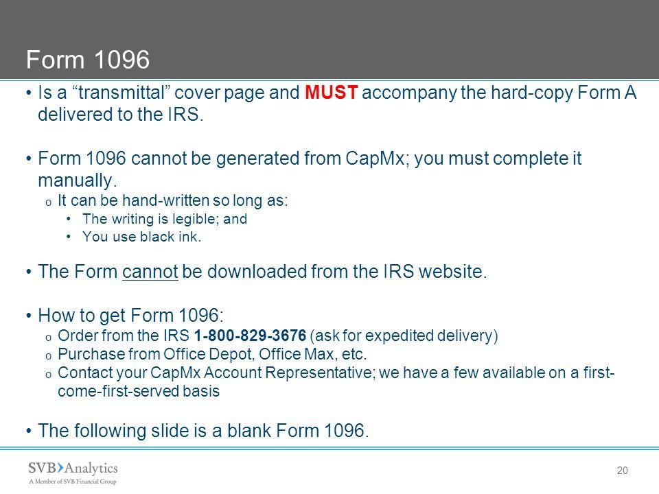 SVB Analytics - CapMx ® FORM 3921 – COPY A – HARD COPY FILING Tax ...