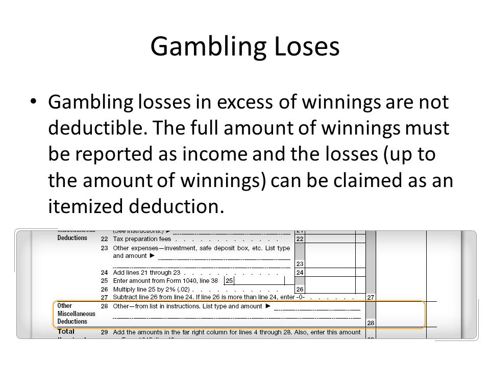 Gambling itemized deduction remington park casino in oklahoma city