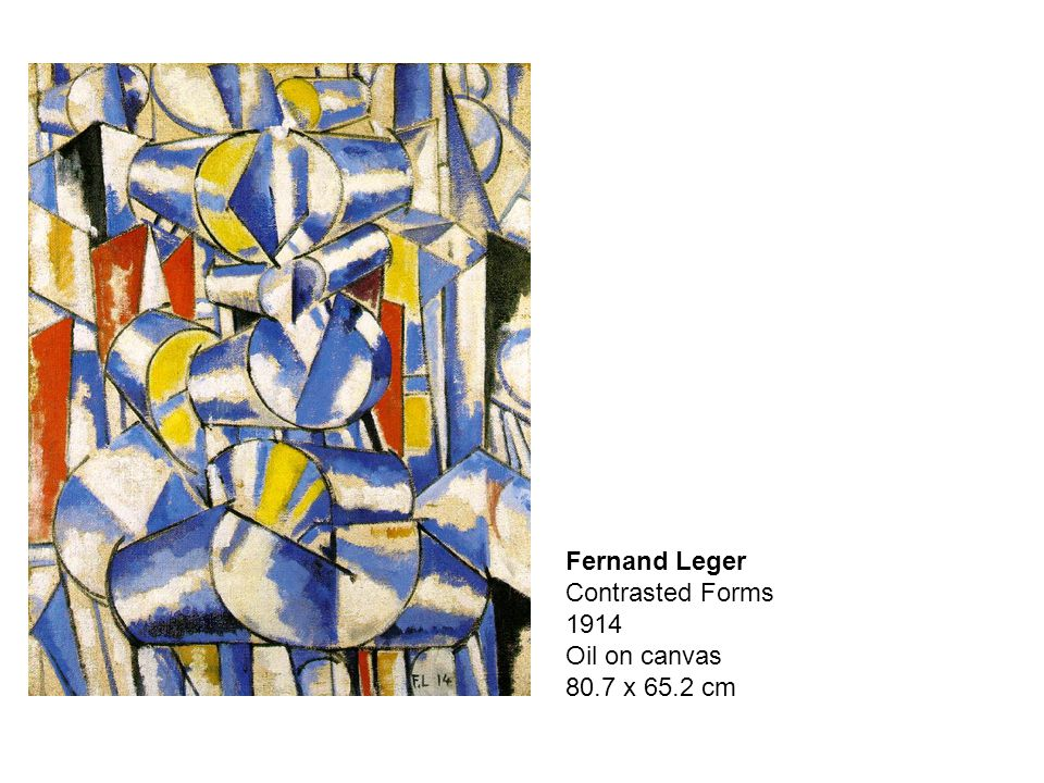 Fernand Leger Contrasted Forms 1914 Oil on canvas 80.7 x 65.2 cm