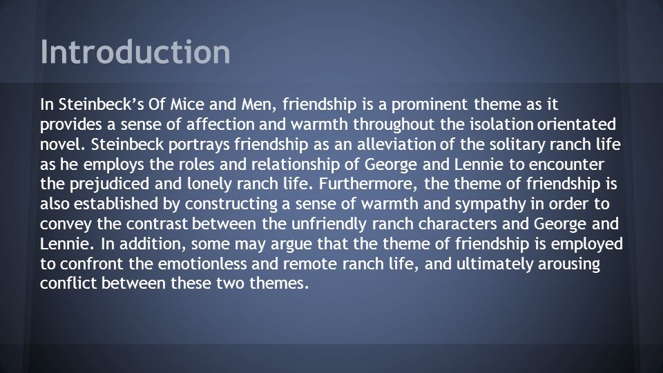 introduction to of mice and men essay
