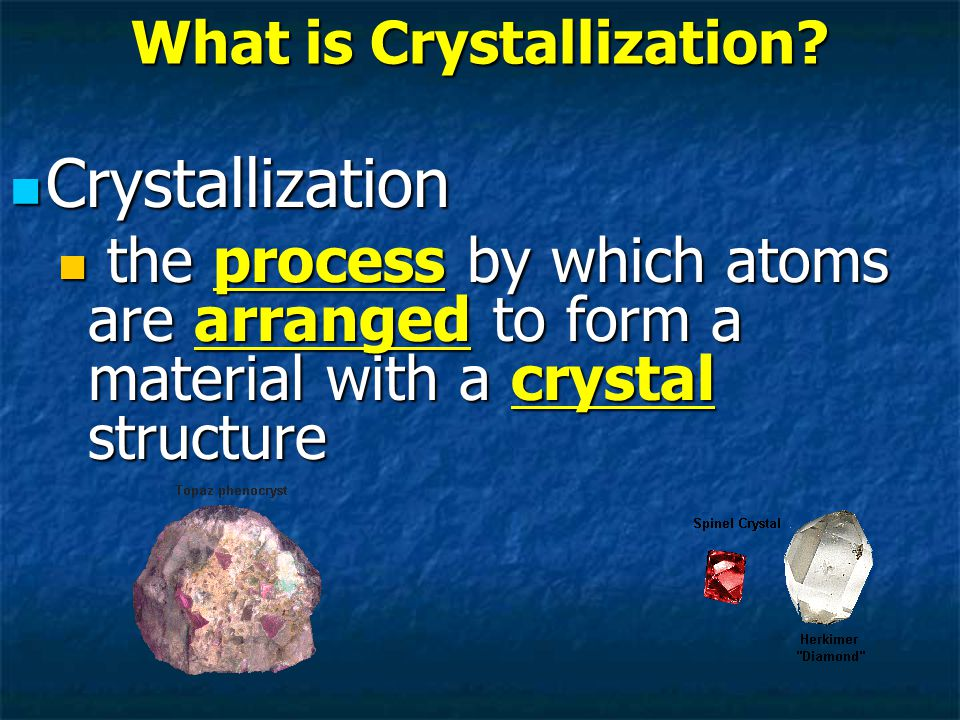 What is Crystallization.