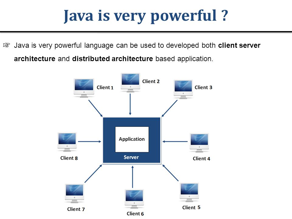 Java is very powerful .