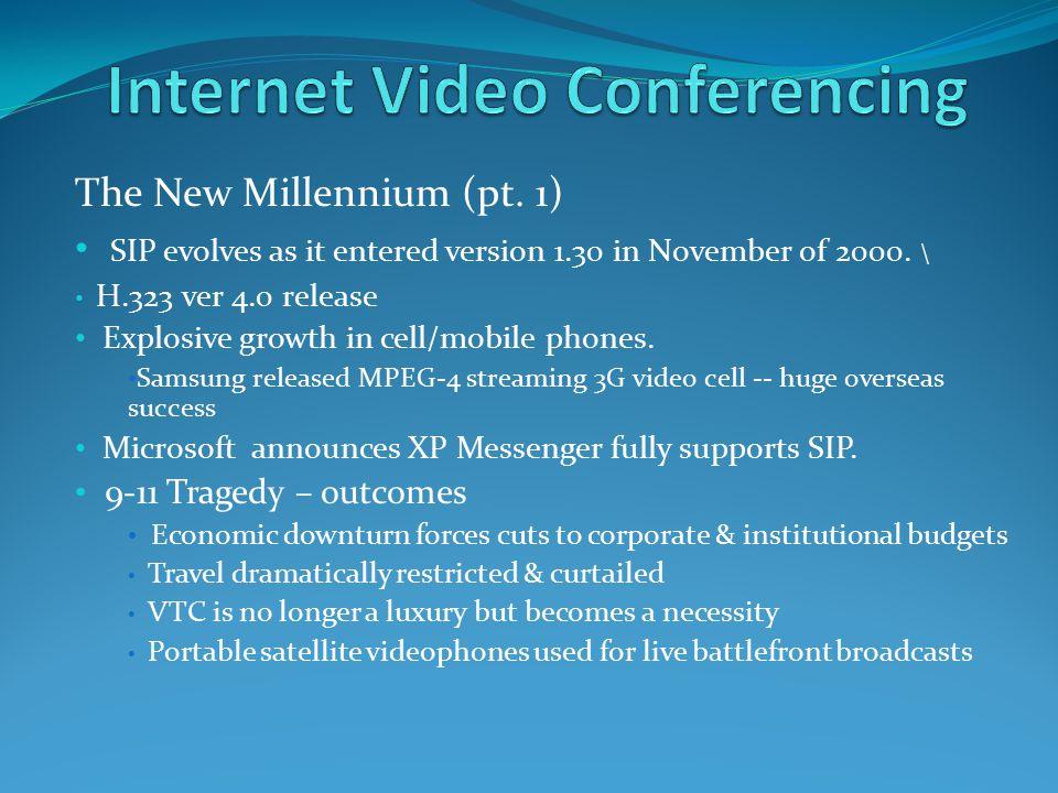 The New Millennium (pt. 1) SIP evolves as it entered version 1.30 in November of 2000.