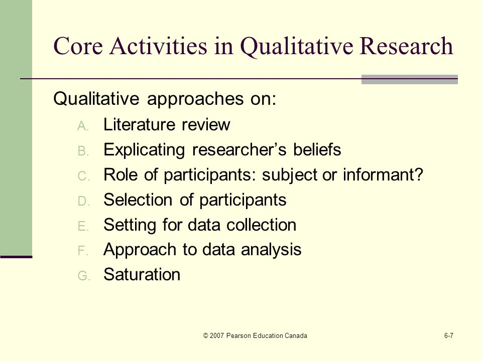 qualitative research design literature review
