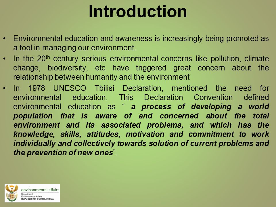 an introduction to the environmental problem in canada Breeding and re-introduction into the wild other environmental problems also have clear economic and social costs: environmental charities in canada.