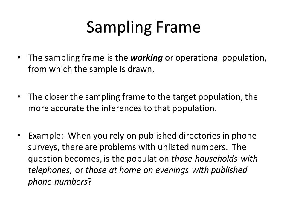 What Is Sampling Frame In Research - Frame Design & Reviews ✓