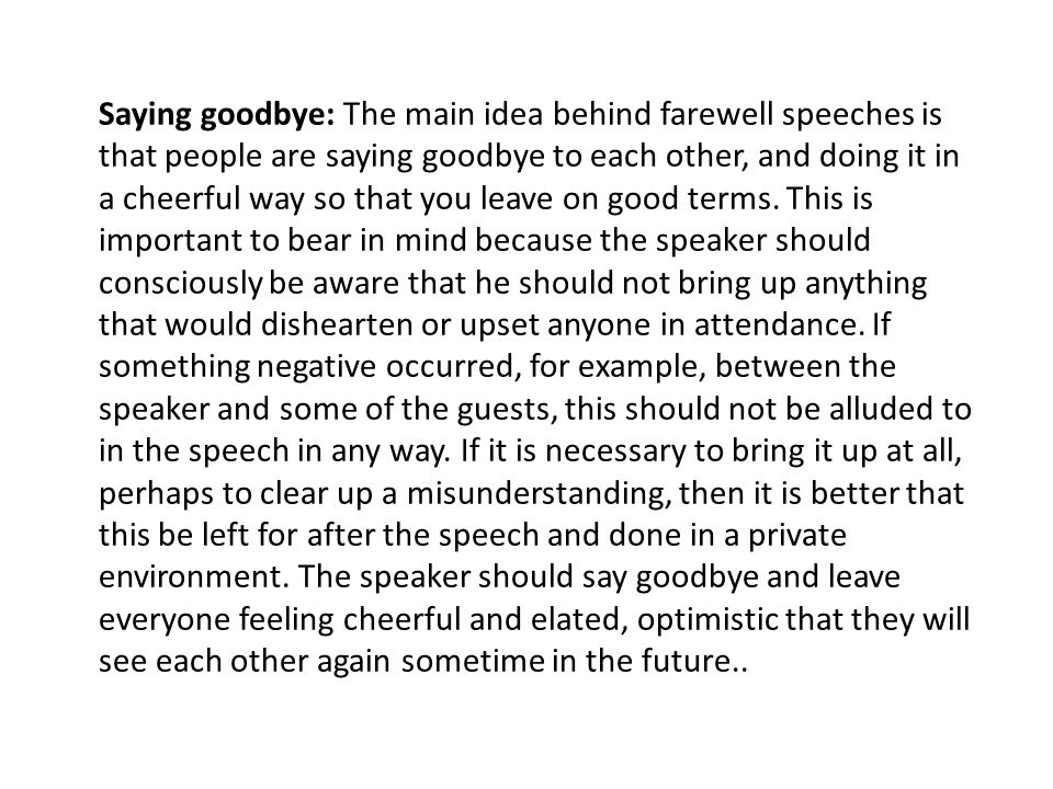 How to write farewell speech