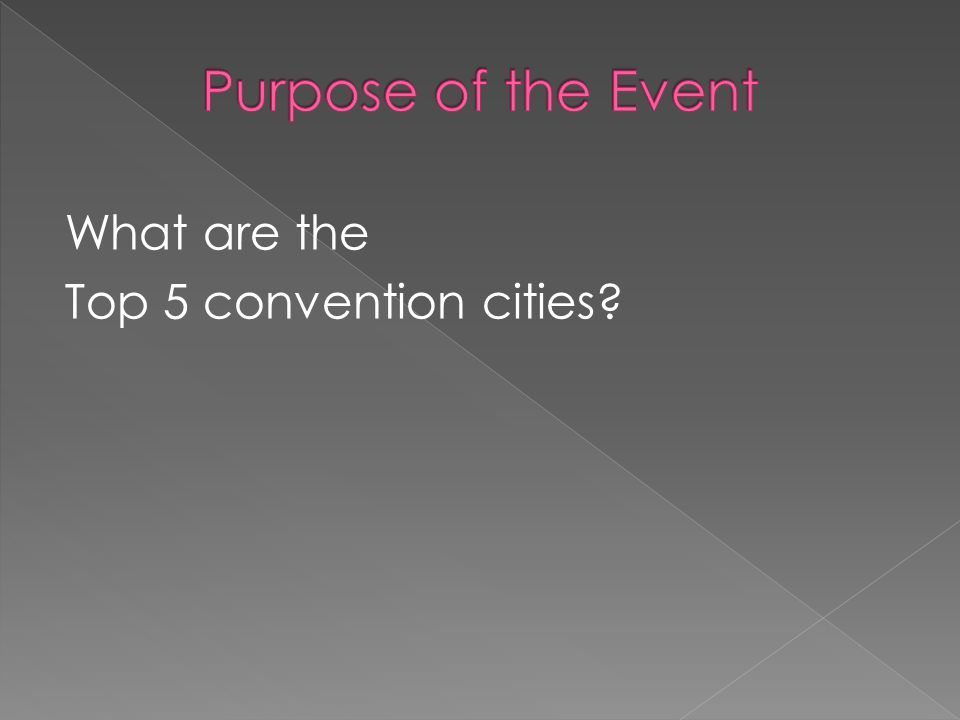 What are the Top 5 convention cities