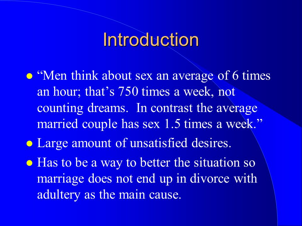 Average Times A Married Couple Has Sex