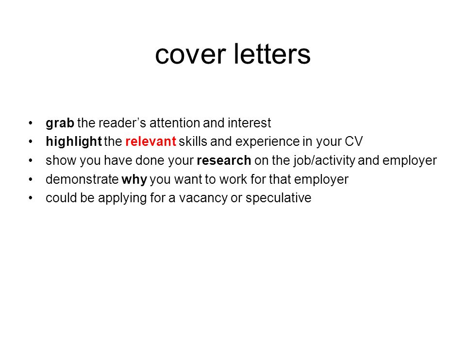 speculative cover letter samples
