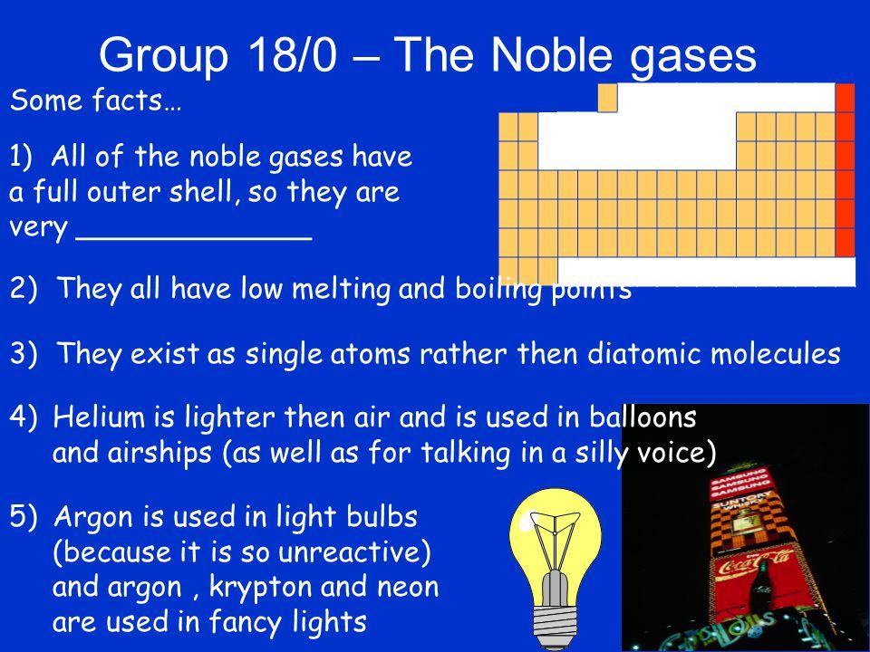 Noble Gases  helium (He)  neon (Ne)  argon (Ar)  krypton ...