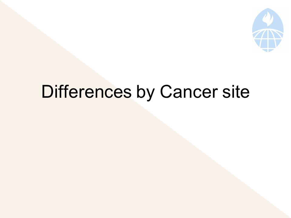 Differences by Cancer site