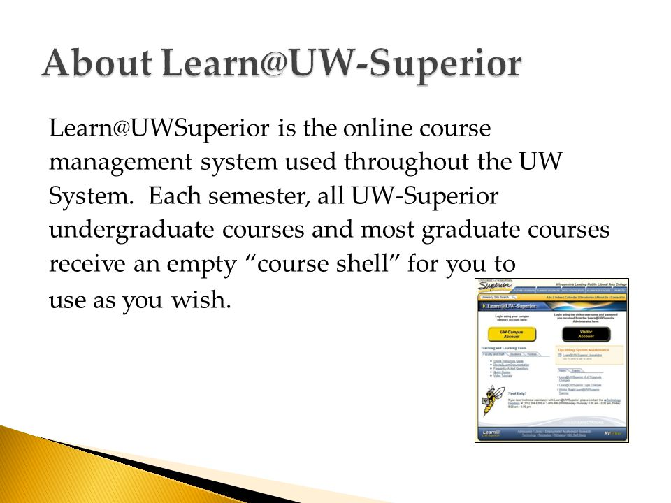 is the online course management system used throughout the UW System.
