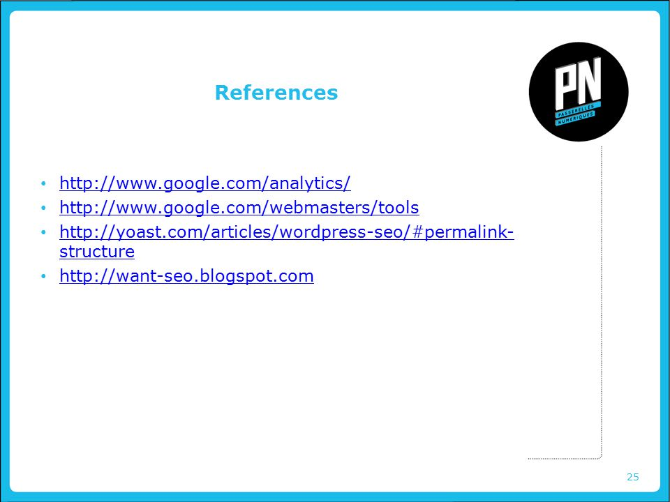 25 References structure   structure