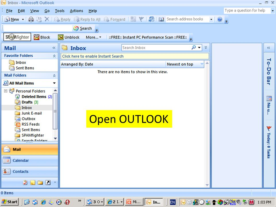 Open OUTLOOK