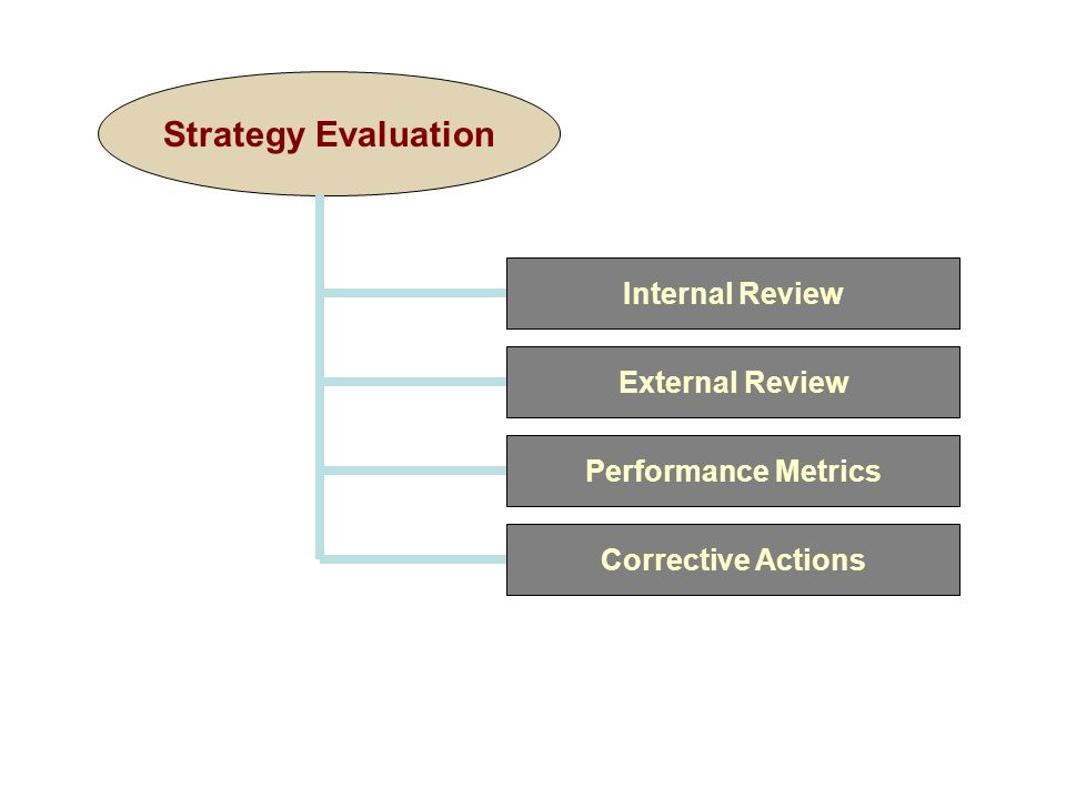 Strategy Evaluation Internal Review External Review Performance Metrics Corrective Actions