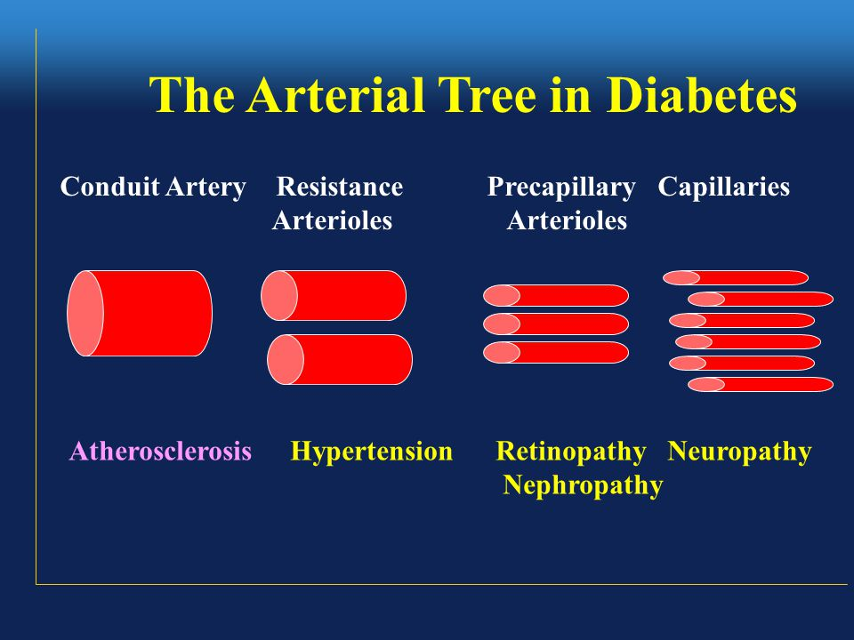 Diabetes – A serious but treatable disease Microvascular complications Blindness, renal failure and nerve dysfunction Macrovascular complications Atherosclerosis –MI, Stroke and amputations Hypertension - Stroke, CHF, CAD