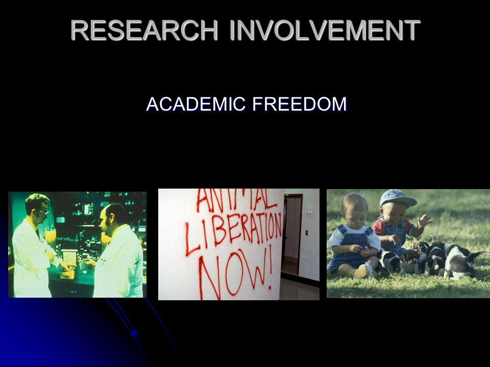 RESEARCH INVOLVEMENT ACADEMIC FREEDOM