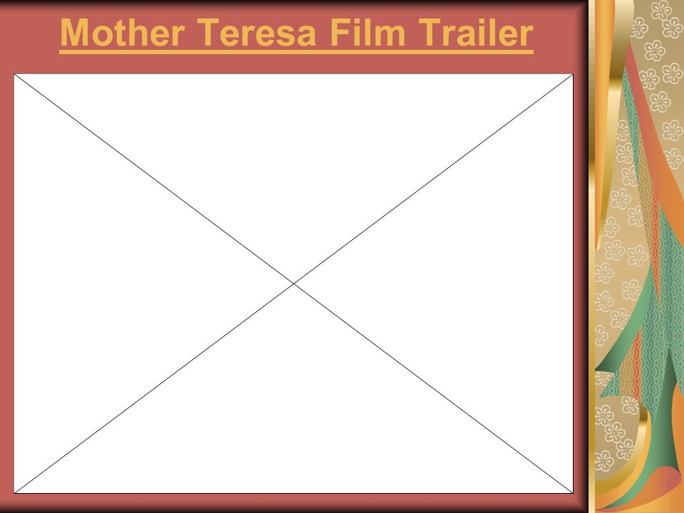 Mother Teresa Film Trailer