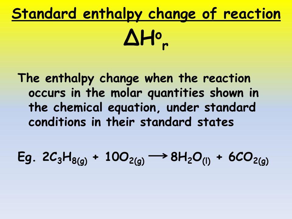 ibdp chemistry ia enthalpy change of
