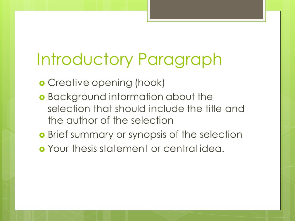 writing workshop response to literature essay author s literary  3 introductory