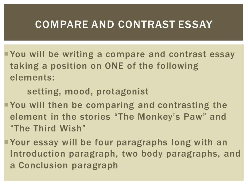 and contrast essay help