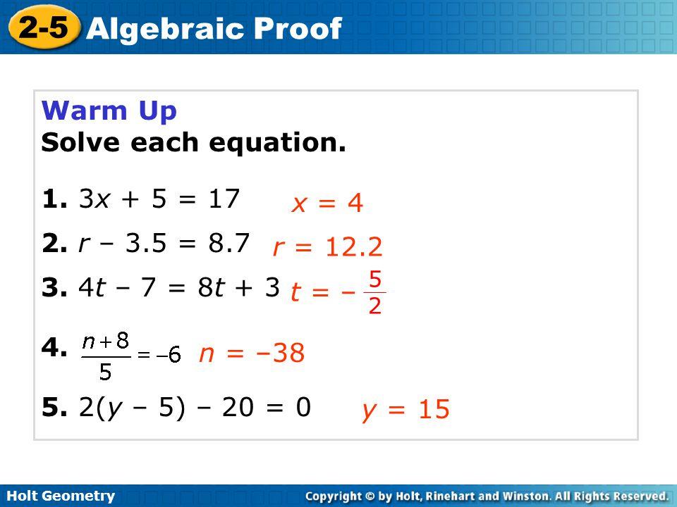 2 5 Algebraic Proof Katinabags – Algebraic Proofs Worksheet