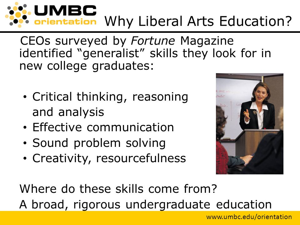 Why Liberal Arts Education.