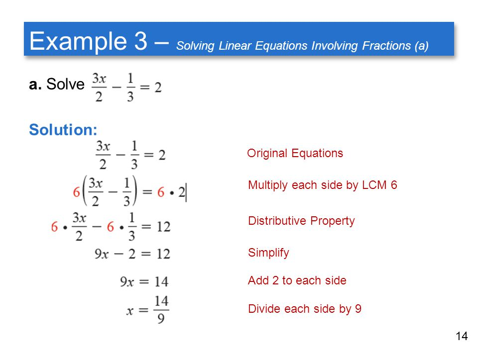 How To Solve A Linear Equation With Fractions - Jennarocca