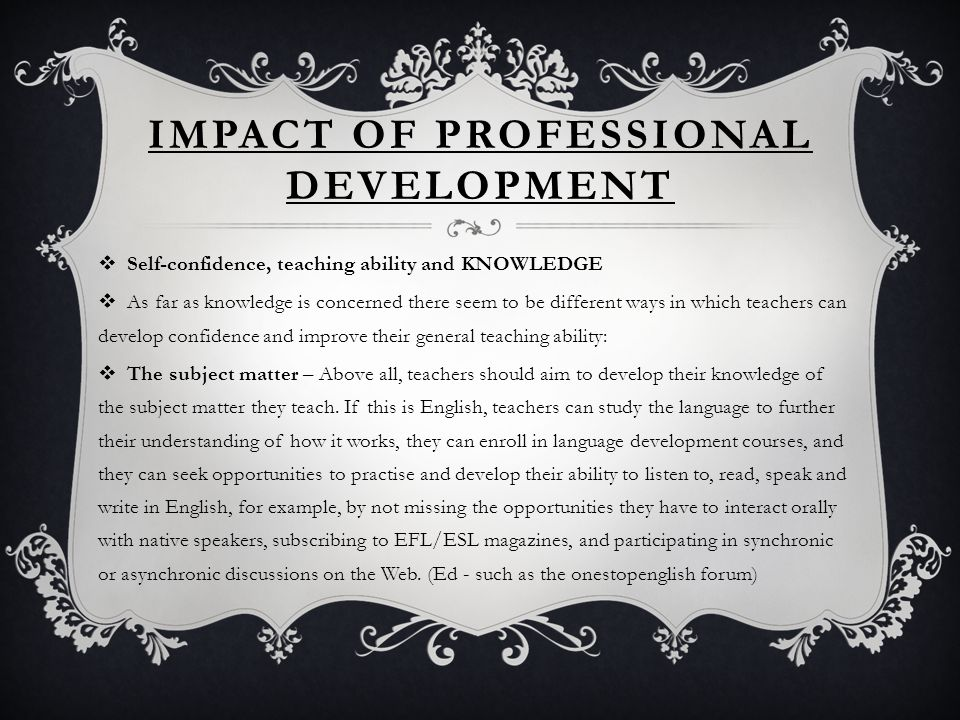 impact of teachers subject matter knowledge