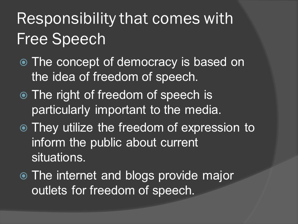 the importance of the media in the context of freedom of speech Why freedom of speech why is freedom of expression important educating the public on matters of social and political concern falls to the media freedom.
