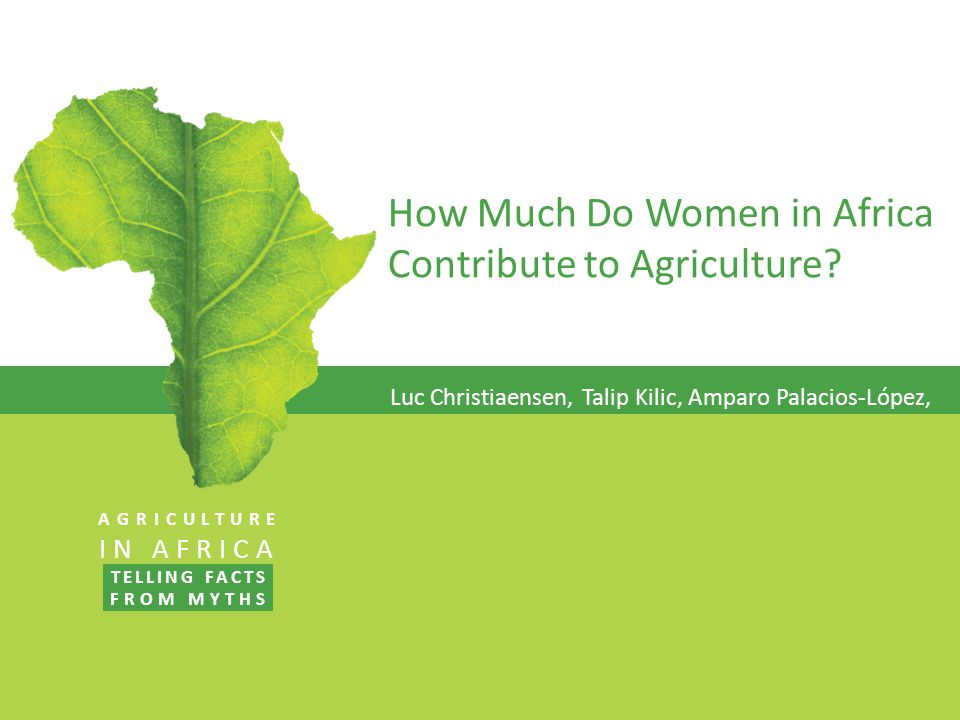 How Much Do Women in Africa Contribute to Agriculture.