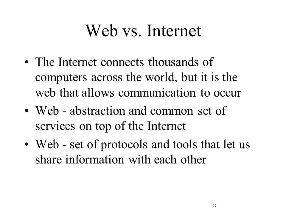 13 Web vs.