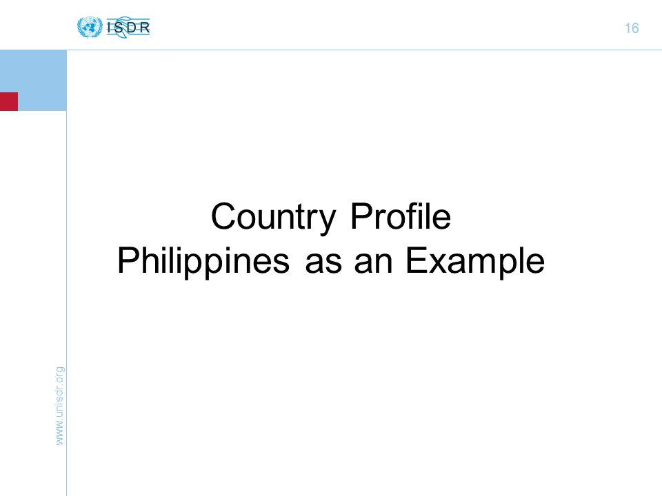 16 Country Profile Philippines as an Example
