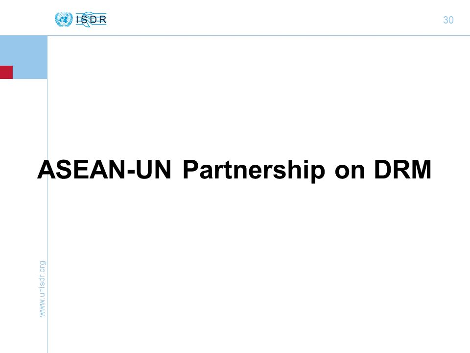 30 ASEAN-UN Partnership on DRM