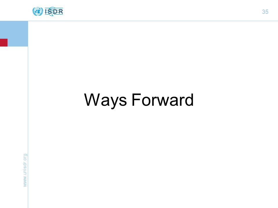 35 Ways Forward