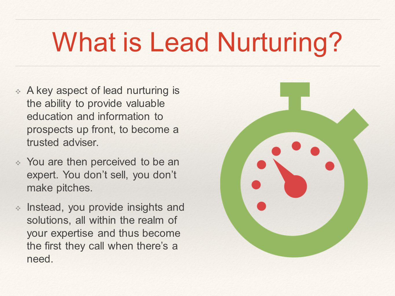 What is Lead Nurturing.