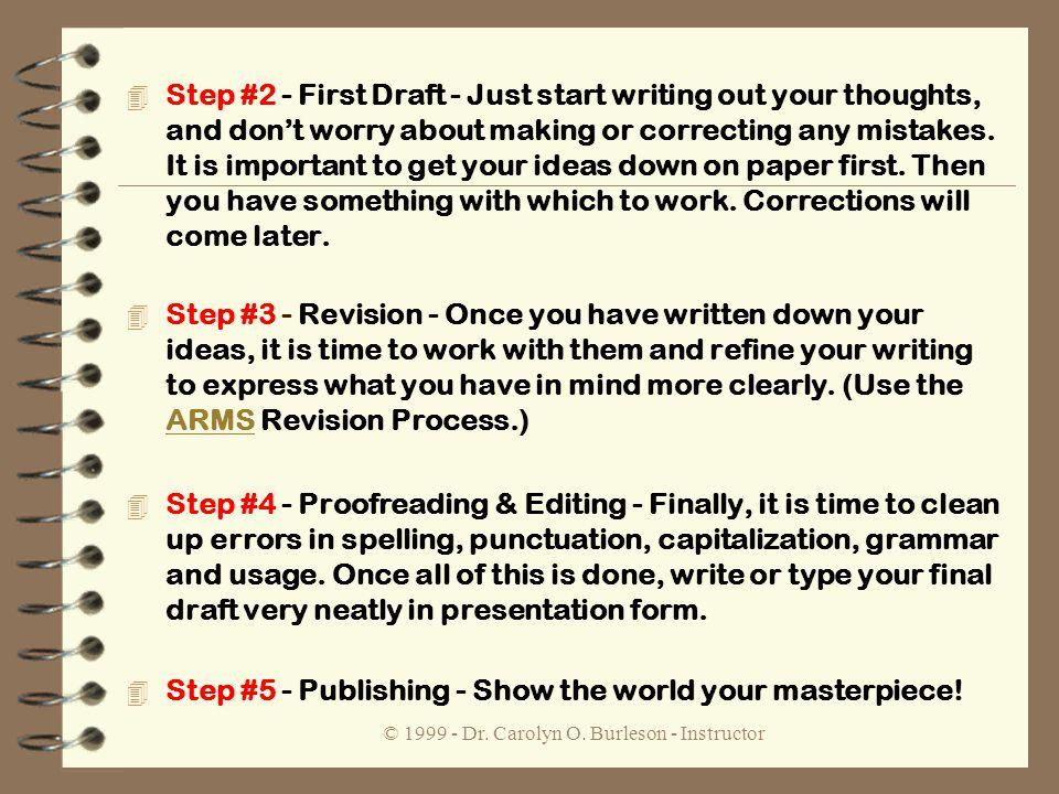 Dr. B\'s Writing Workshop © Dr. Carolyn O. Burleson - Instructor 4 ...